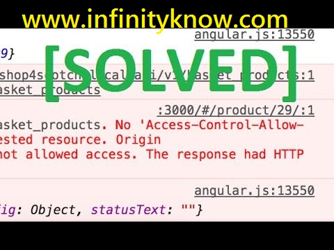 Access Control Allow Origin Solution - AngularJs PHP Python Express JS with ASP NET