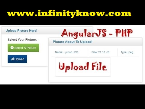 AngularJS PHP Image Upload with preview Example