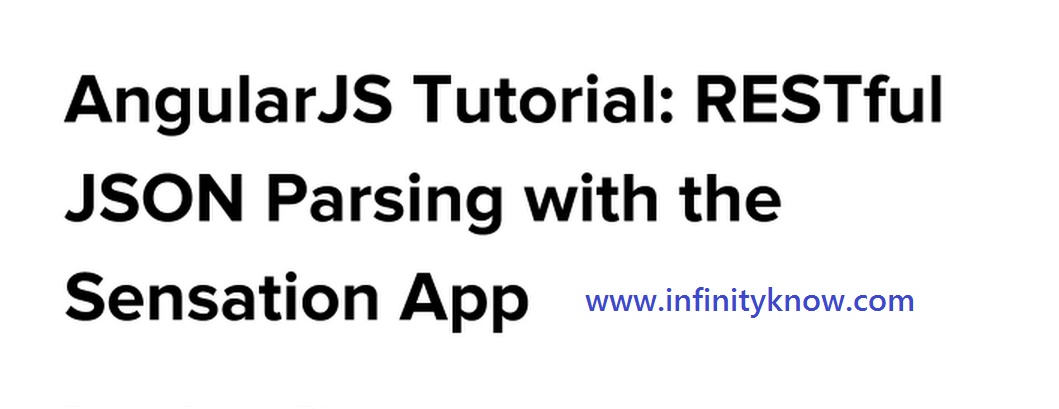 AngularJS Tutorial RESTful JSON Parsing