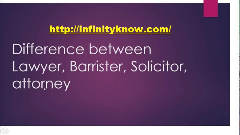 Difference between attorney, barrister, lawyer, and solicitor?