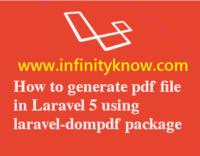 Generate PDF HTML in LARAVEL DOMPDF