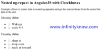 Nested ng-repeat Checkboxes in AngularJS Example