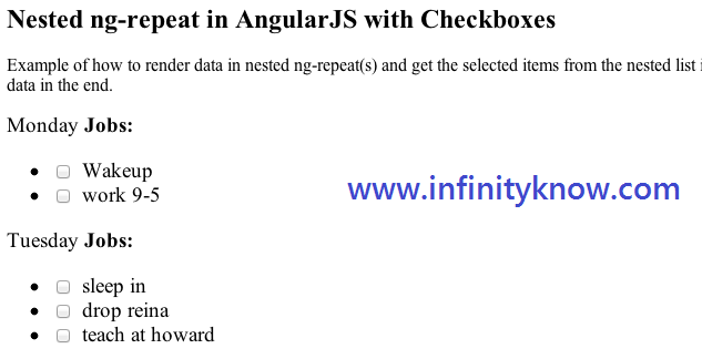 Nested Ng Repeat Checkboxes In Angularjs Example Infinityknow