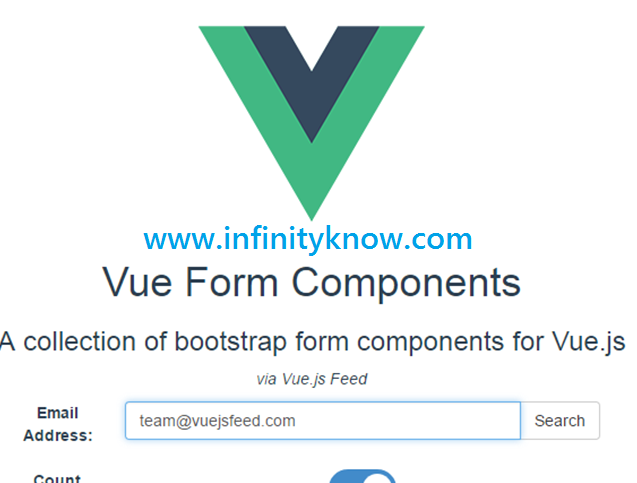 Vue Js simple Registration Input Form Components