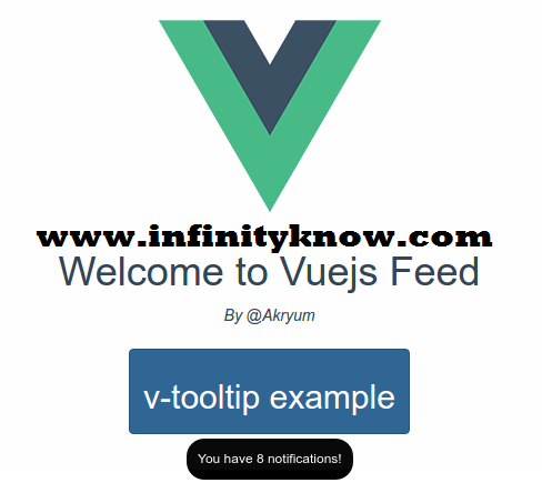 Vuejs Simple Tooltip Plugin v-tooltip Example