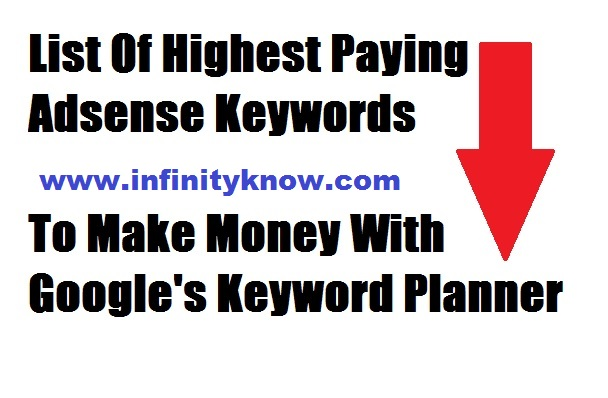 1000 Google Adsense high CPC keywords List