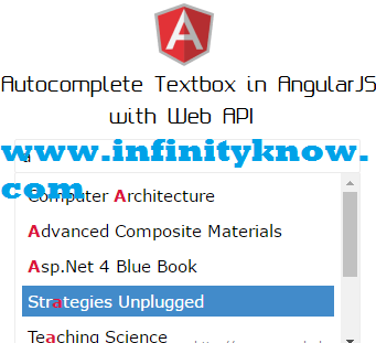 AngularJS AutoComplete Search Dynamic Data using Web API