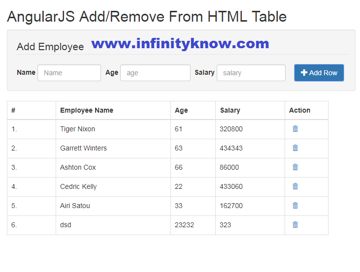 angular 6 dynamic table example,angular 6 dynamic table from json,angular 6 add remove table row,angular 6 dynamically add row,add rows dynamically using angular 6,angular 6 ng-table dynamic columns,angular 6 create table dynamically,angular 6 dynamic table header