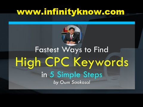 Fastest Way To Find Long Tail High Paying AdSense CPC Keywords