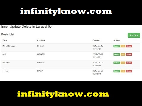 Laravel INSERT UPDATE DELETE Example Step By Step