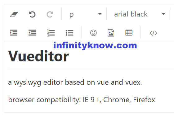 Simple HTML Editor Example Made with vuejs – vue text editor