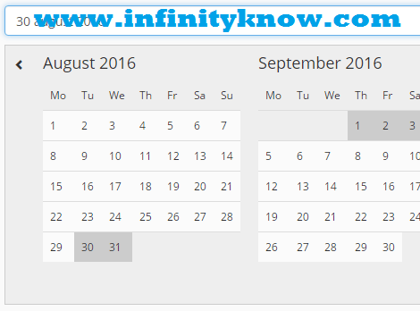 Vuejs Date Range Picker start date end date Component
