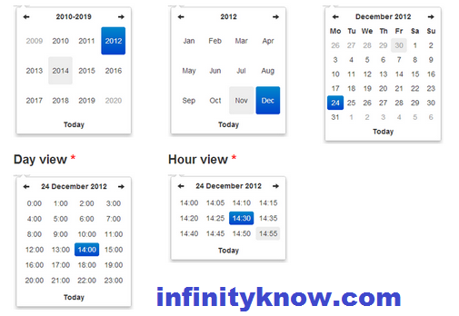 vuejs bootstrap datepicker and timepicker Examples • InfinityKnow