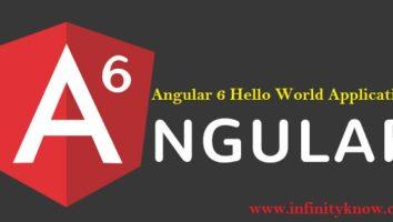 Angular 6 Hello World Application