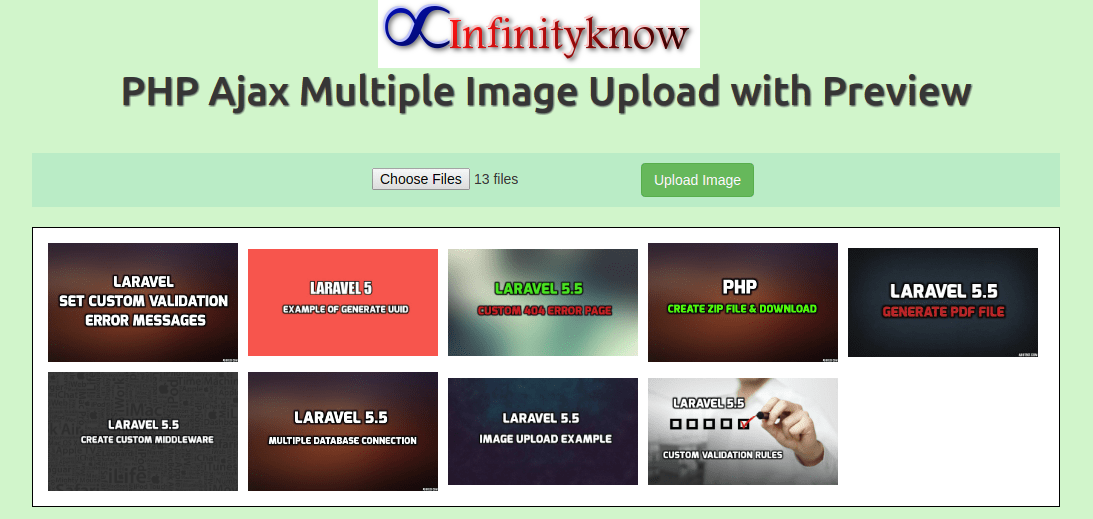 Multiple Image Upload in php with Database