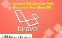 PHP Laravel Get base url Examples